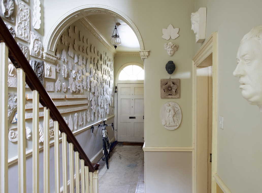 Georgian Hall filled with a collection of plaster casts.
