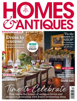 Homes & Antiques Magazine front cover December 2019