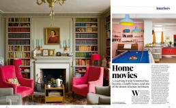 Home Movies, 3 page article in the Observer Magazine about Juliet and David Mclay's family home with it's very own cinema.