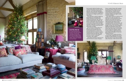 Ancient Traditions, 7 page feature in Homes & Antiques Magazine about an 18th-century barn, which is home to Sue Jones, founder of OKA.