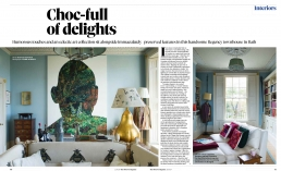 Choc-full of delights, 3 page interiors feature in the Observer Magazine about Bill Keeling's beautiful Regency home in Bath.