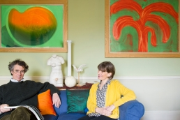 Portrait of Peter and Helen Malone in their beautiful Georgian sitting room