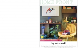 Joy to the world, 4 page feature in Stella Magazine about the colourful and characterful home of Zoe Anderson, Founder of WA Green.