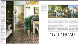 Vive La France, 4 page feature in The Telegraph Magazine about the home of textile designer and decorator - Susan Deliss.