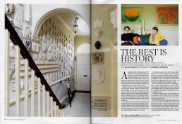 The Rest Is History, 4 page article in The Telegraph Magazine about Peter and Helen Malone's home, filled with death masks, Ottoman tiles and busts of bygone heroes.
