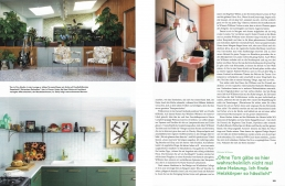 Whinnie Williams 6 page feature in Architectural Digest, Germany.