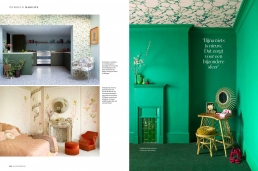 Into the groove, 8 page feature in Elle Decoration Netherlands about Whinnie William's fabulous retro home.