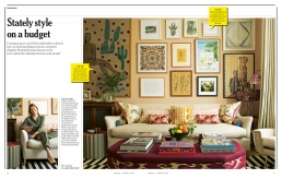 Stately style on a budget, 4 page feature in Stella Magazine about the home of Rosanna Bossom