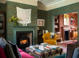 Sitting room of Ed and Alice Workman