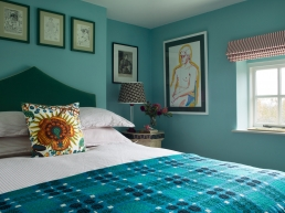 Luke Edward Hall's spare bedroom