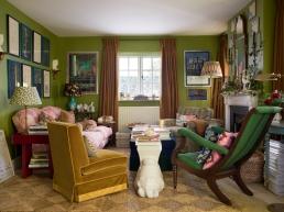 Luke Edward Hall's sitting room ready